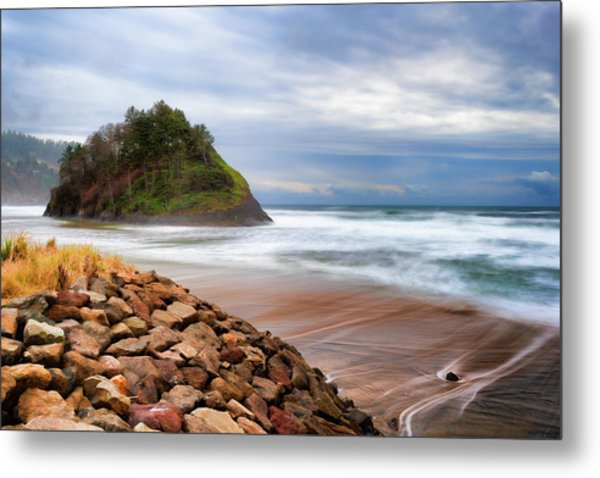 Proposal Rock On The Oregon Coast Metal Print