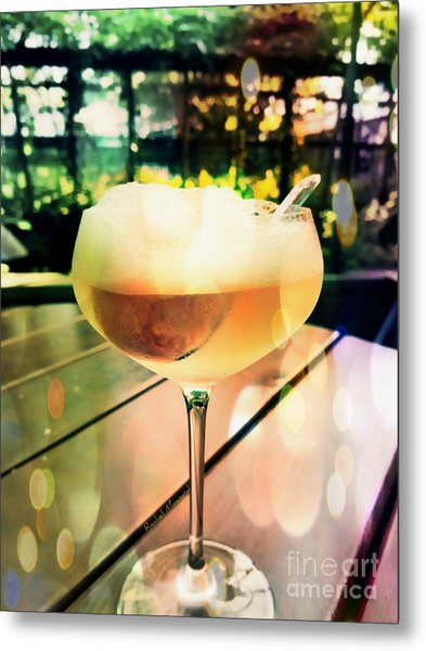 Metal Print featuring the photograph Prosecco Float by Rachel Maynard