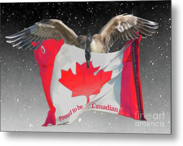 Proud To Be Canadian Metal Print