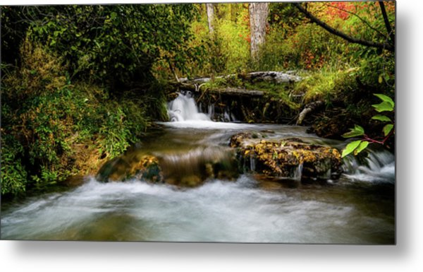 Metal Print featuring the photograph Provo Deer Creek Cascades by TL Mair