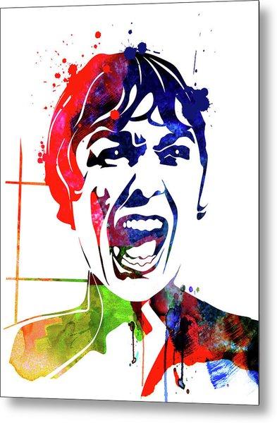 Psycho Watercolor Metal Print