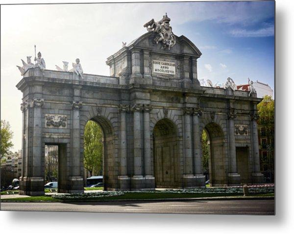 Puerta De Alcala In Madrid, Spain Metal Print