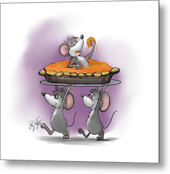 Pumpkin Pie Celebration Metal Print