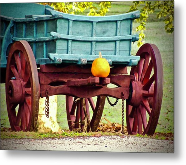 Pumpkin Trail Mix Metal Print