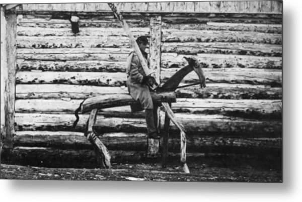 Punishment Horse Metal Print by Hulton Archive