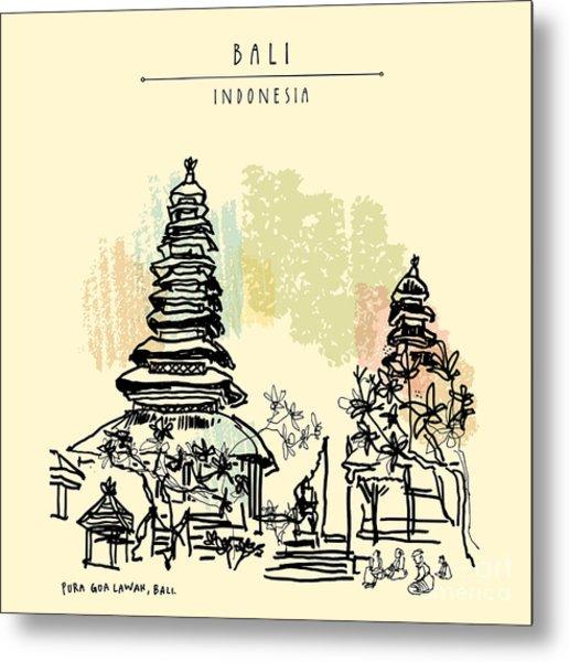 Pura Goa Lawah, An Important Balinese Metal Print