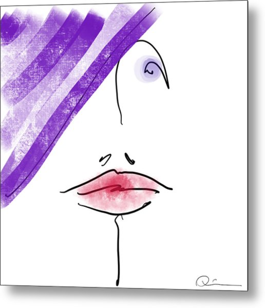 Purple Hat Metal Print
