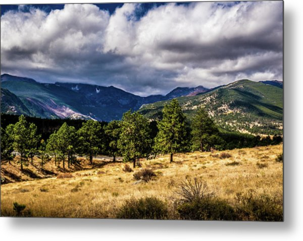 Metal Print featuring the photograph Purple Mountains by James L Bartlett