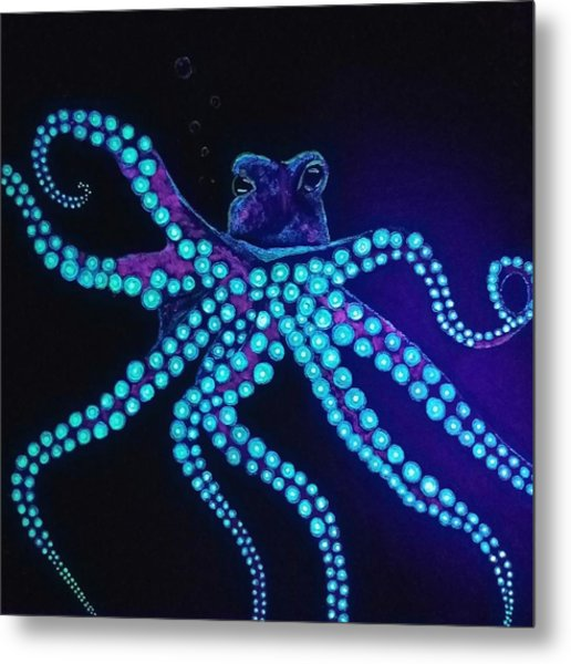 Purple Octopus  Metal Print