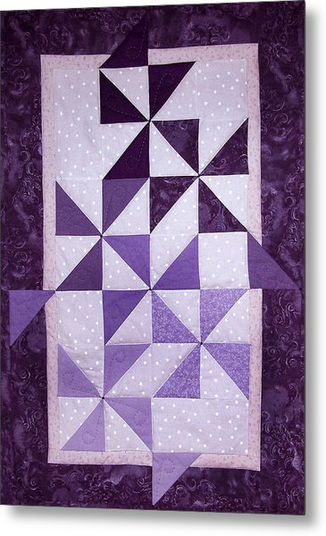Purple Pinwheels Pirouetting Metal Print