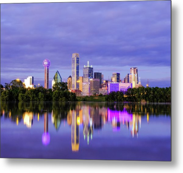 Purple Rain City Of Dallas Texas Metal Print
