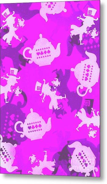 Purple Tea Party Metal Print
