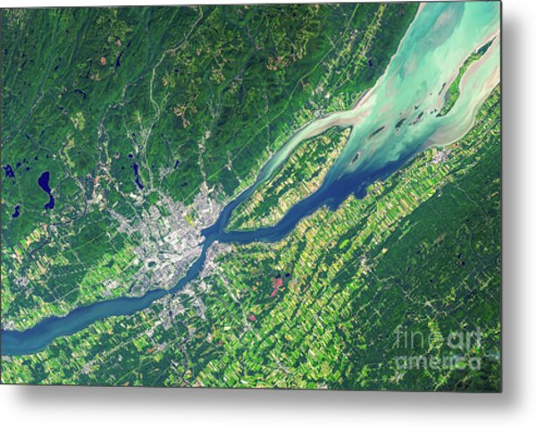 Quebec City From Space Metal Print