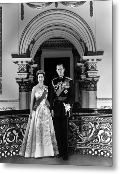 Queen Elizabeth II And Prince Philip Metal Print