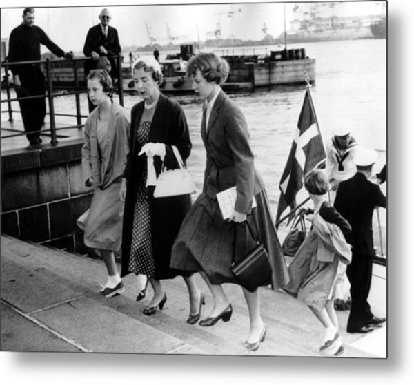 Queen Ingrid Of Denmark And Her Metal Print
