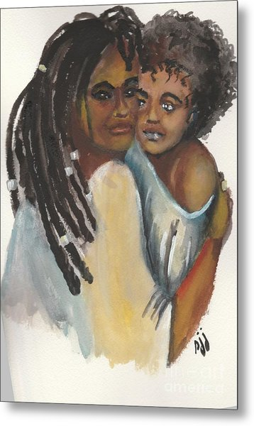 Metal Print featuring the painting Queen Love by Saundra Johnson