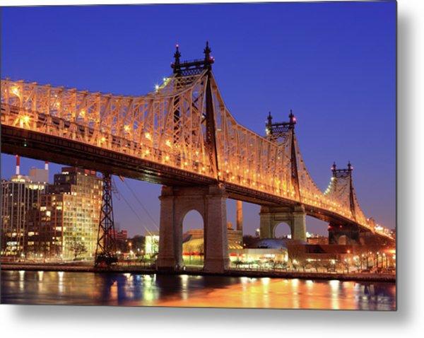 Queensboro Bridge, Nyc Metal Print