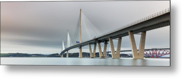 Queensferry Crossing Bridge 3-1 Metal Print