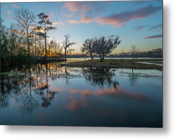 Quiet River Sunset Metal Print