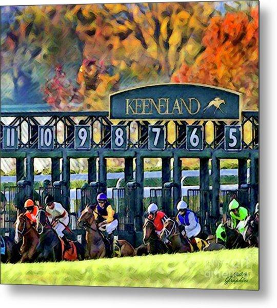 Fall Racing At Keeneland  Metal Print