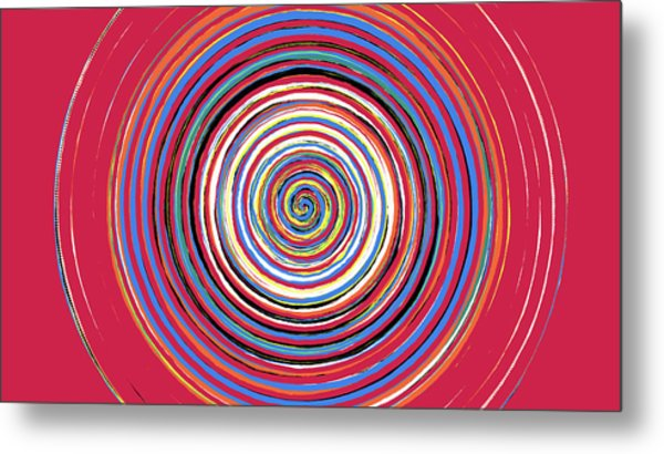 Radical Spiral 19044 Metal Print by REVAD David Riley