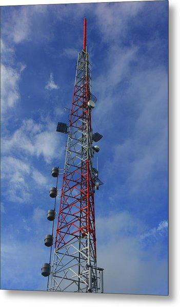 Metal Print featuring the photograph Radio Tower On Mount Greylock by Raymond Salani III