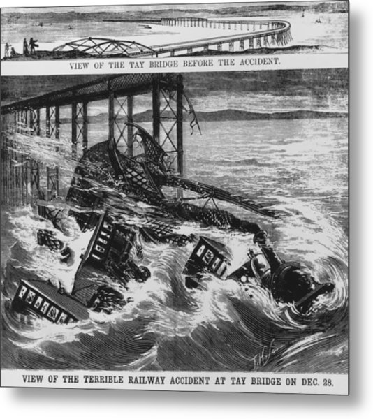 Railway Accident Metal Print by Hulton Archive