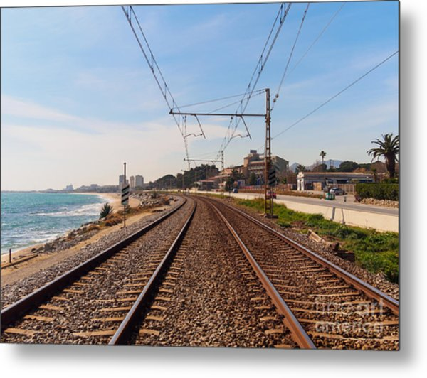 Railway To The Coast Of The Metal Print