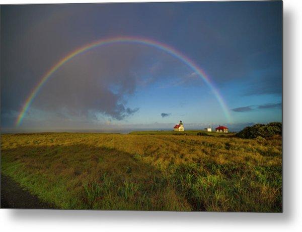 Rainbow At Point Cabrillo Metal Print