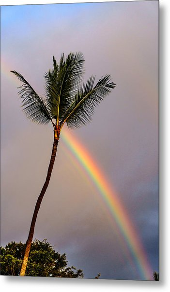 Rainbow Just Before Sunset Metal Print