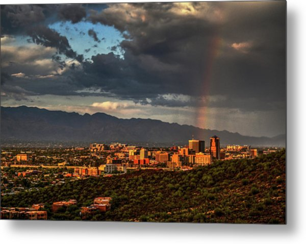 Metal Print featuring the photograph Rainbow Over Tucson by Chance Kafka