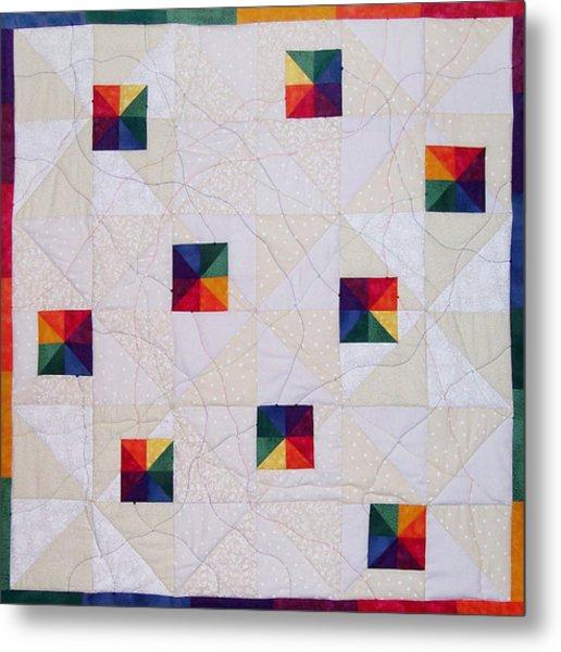 Rainbow Pinwheel Metal Print