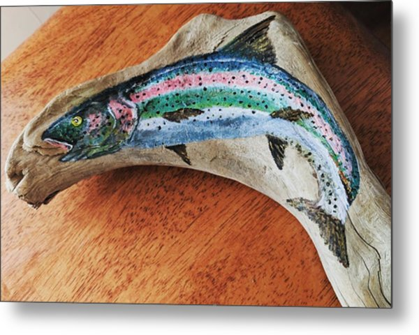 Rainbow Trout #1 Metal Print