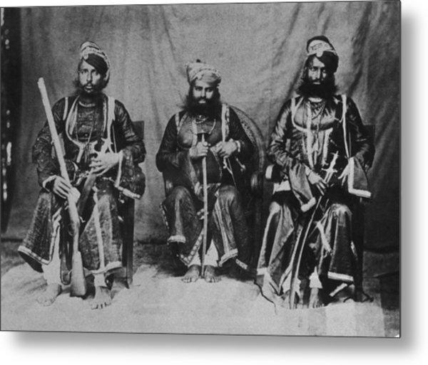 Rajput Warriors Metal Print by Henry Guttmann Collection