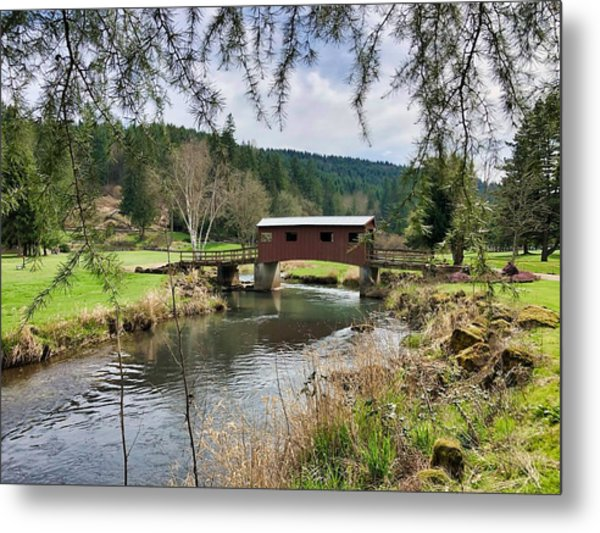 Ranch Hills Covered Bridge Metal Print