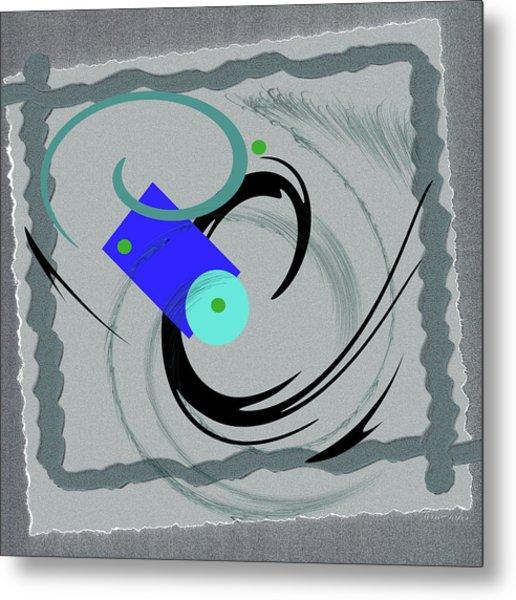 Randomness Variations 5, On Paper Montage Metal Print