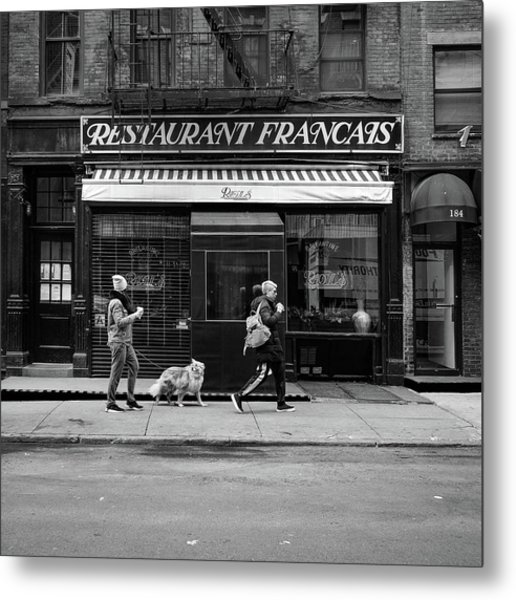 Raoul's In Black And White Metal Print by Michael Gerbino