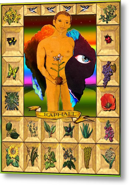 Raphael, The Archangel Metal Print
