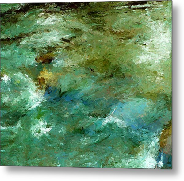 Metal Print featuring the digital art Rapidly Passing by Rein Nomm