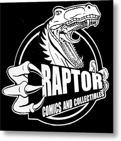 Raptor Comics Black Metal Print