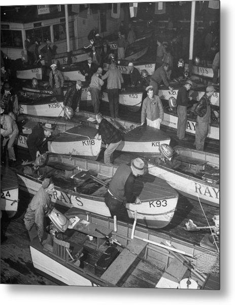 Rays Houseboat At Ballard Where Fisherm Metal Print