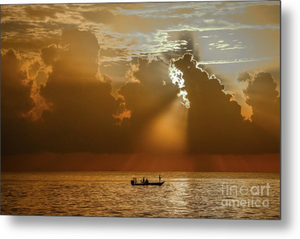 Metal Print featuring the photograph Rays Light The Way by Tom Claud
