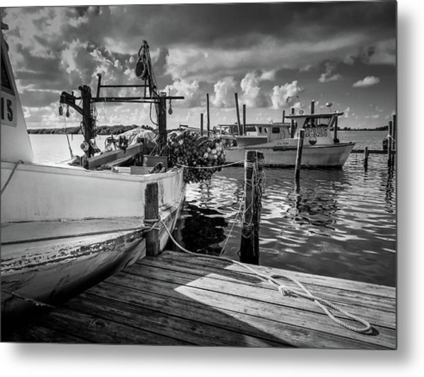 Metal Print featuring the photograph Ready To Go In Bw by Doug Camara