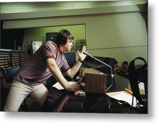 Recording Pet Sounds Metal Print