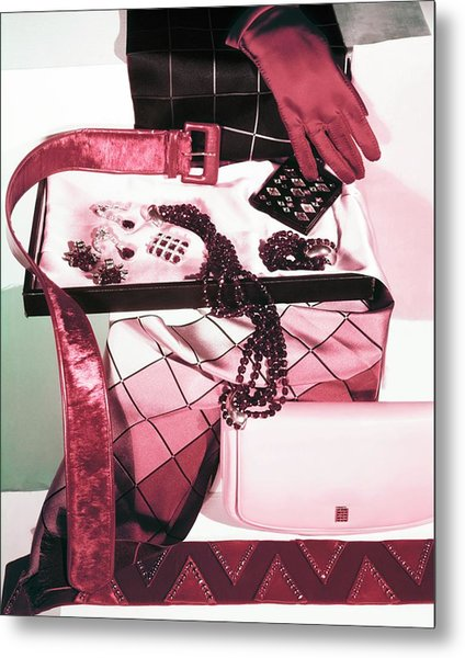 Red And Pink Accessories Metal Print