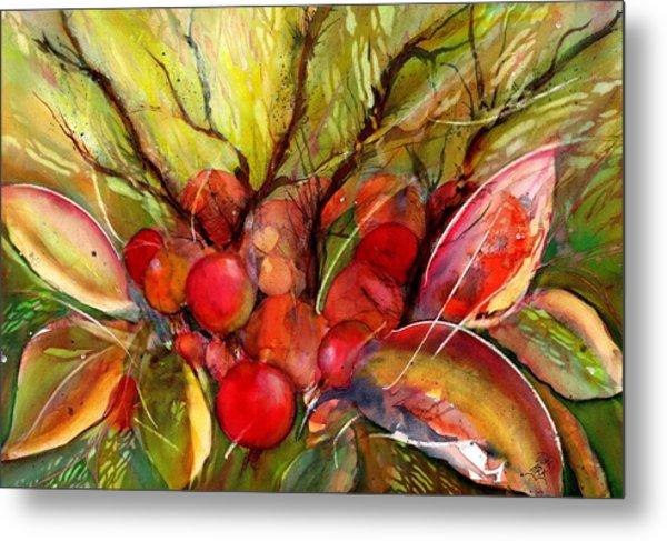 Red Autumn Berries Metal Print