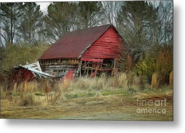 Red Barn Metal Print by Elijah Knight