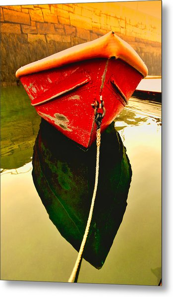 Red Boat Metal Print