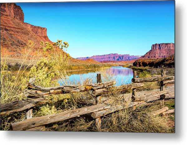 Metal Print featuring the photograph Red Cliffs Canyon by David Morefield