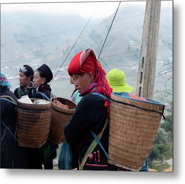 Red Dao Woman, Sapa, Vietnam Metal Print